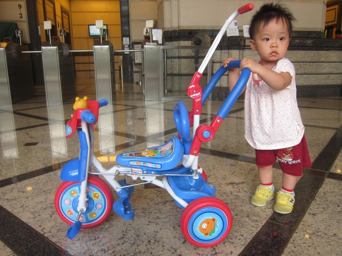 小公主出巡新寵兒:可摺疊幼兒三輪車